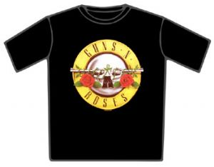Guns N Roses Guns Logo Black T-Shirt